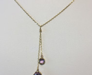 COLLIER OR 750/000 AMETHYSTE