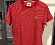 T-shirt Tommy Jeans Homme - rayures rouge