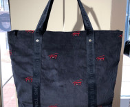 Sac à main Tommy Jeans femme - Tote bag velours