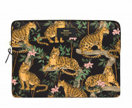 "Pochette ordinateur 13"" - Lazy jungle noire"