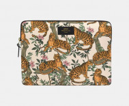 "Pochette ordinateur 13"" - Lazy jungle blanche"