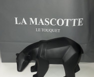 Ours origami noir