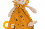 Elodie Coudray - Doudou Attache-Tétine Lion-Moulin Roty