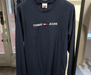 T-shirt manches longues Tommy Jeans homme - marine