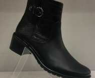 Boots cuir et croco